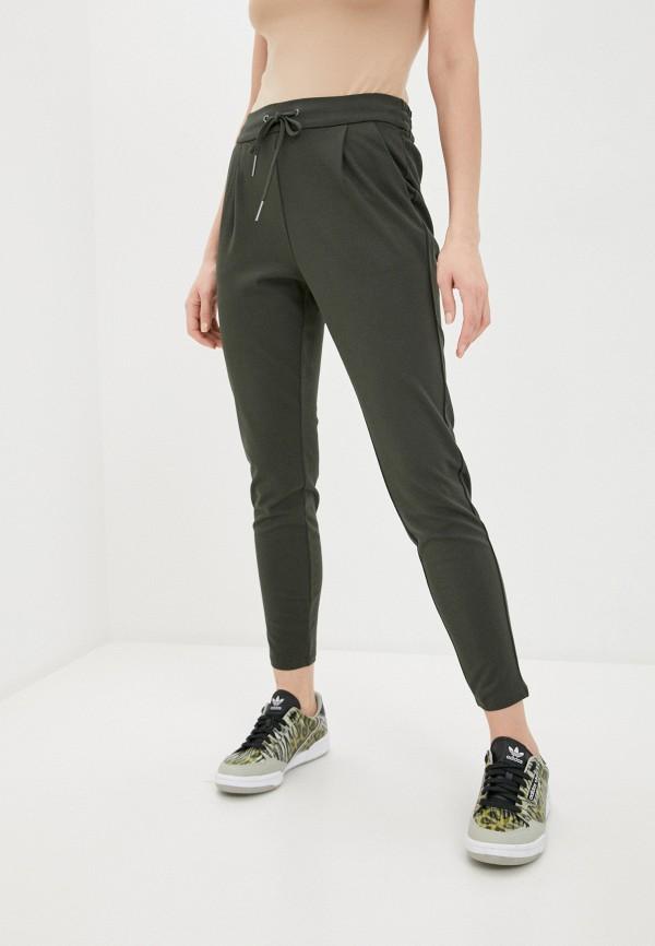 женские спортивные брюки vero moda curve, зеленые