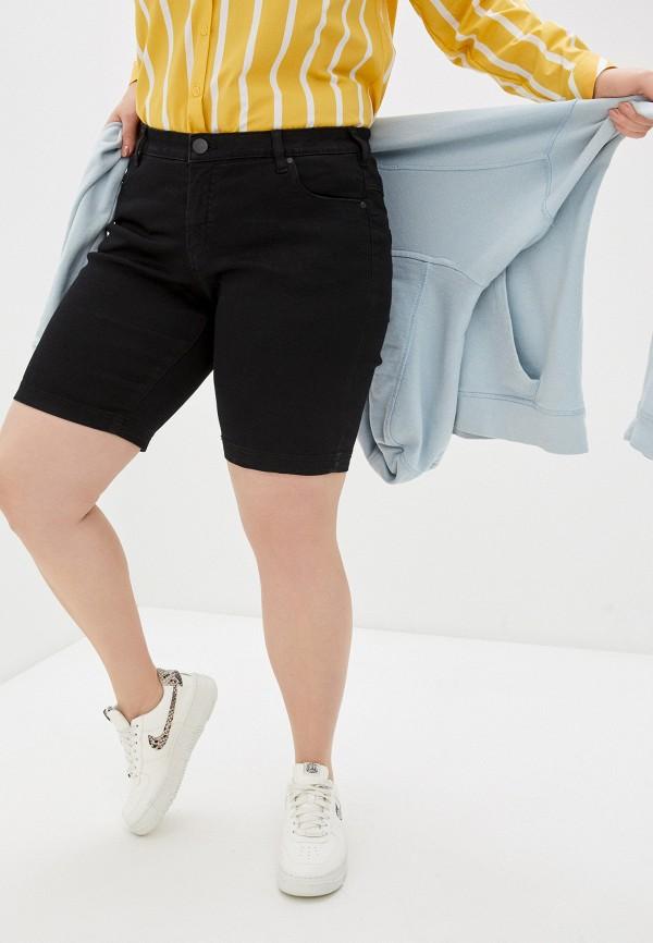 женские джинсовые шорты zizzi, черные
