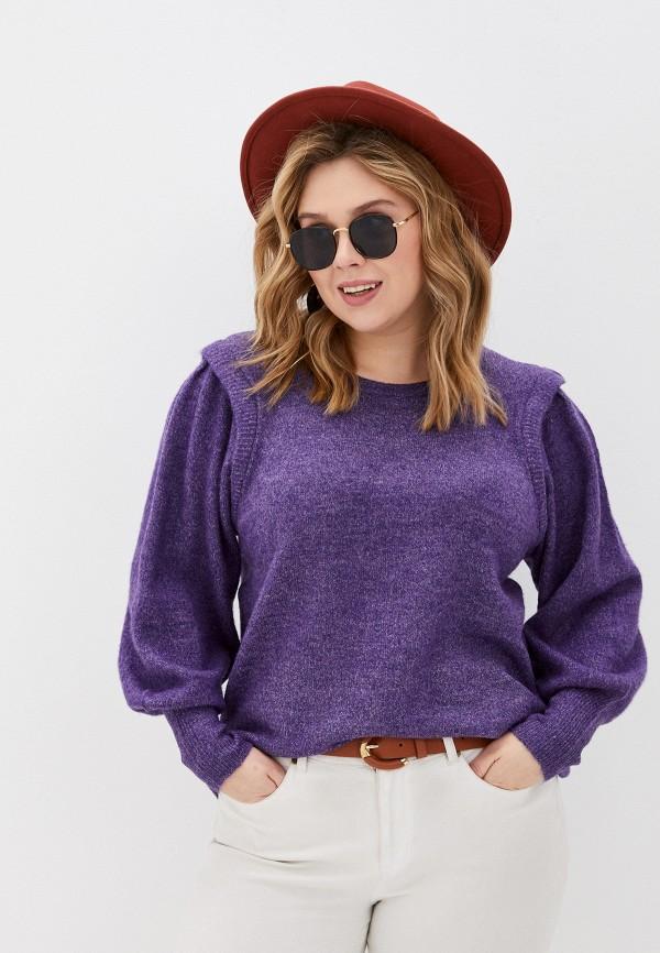 женский джемпер zizzi, фиолетовый