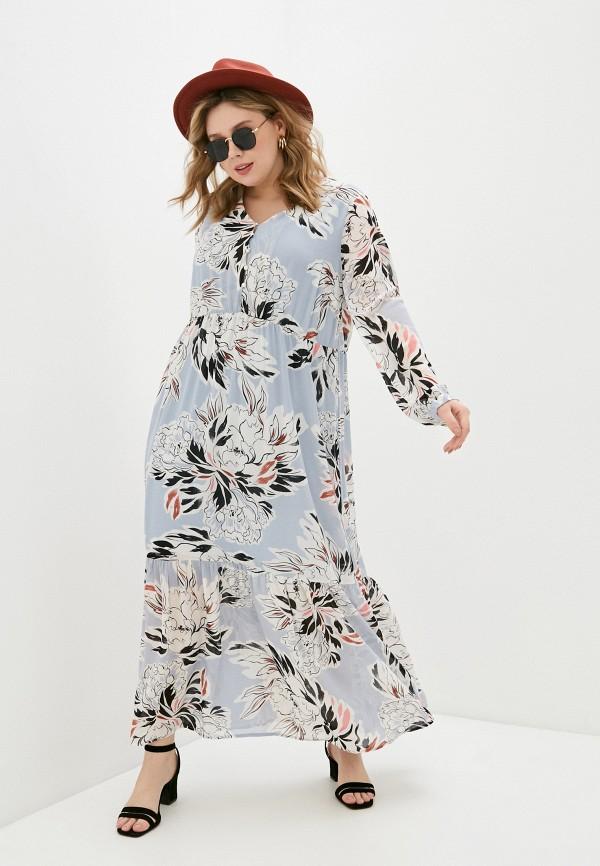 женское повседневные платье vero moda curve, голубое