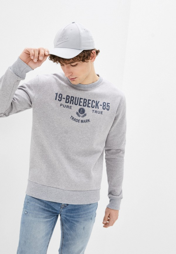 мужской свитшот bruebeck, серый