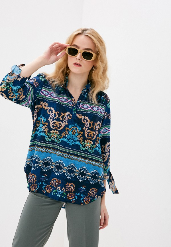 женская блузка bruebeck, синяя
