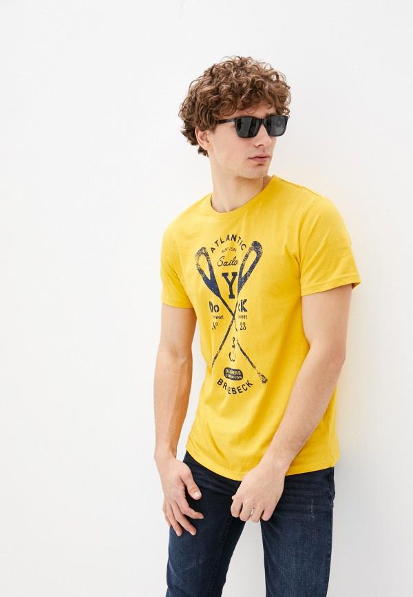 мужская футболка с коротким рукавом bruebeck, желтая