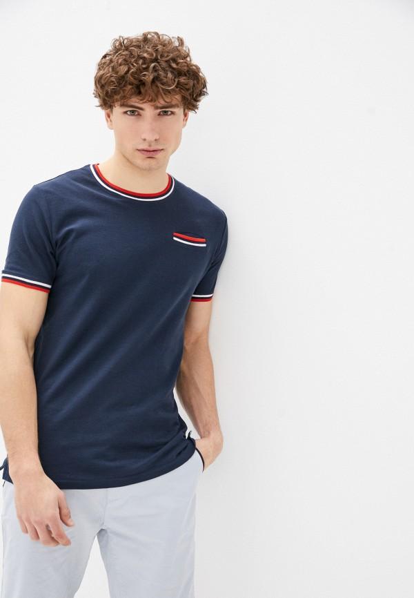 мужская футболка с коротким рукавом bruebeck, красная