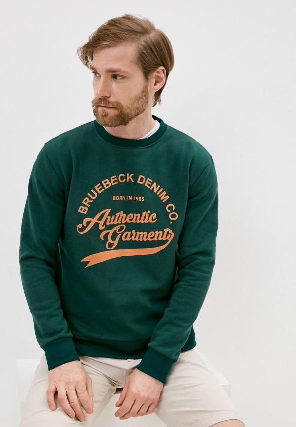 мужской свитшот bruebeck, зеленый