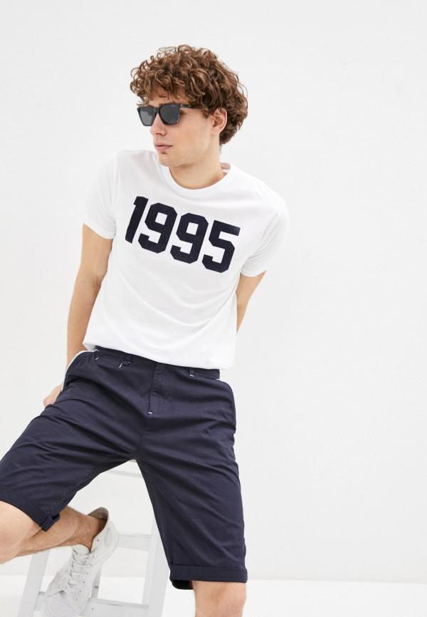 мужская футболка с коротким рукавом bruebeck, белая
