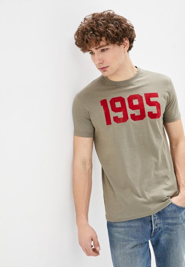 мужская футболка с коротким рукавом bruebeck, хаки