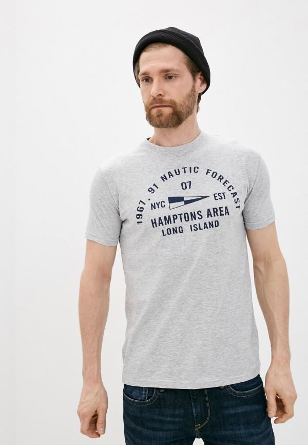мужская футболка с коротким рукавом bruebeck, серая