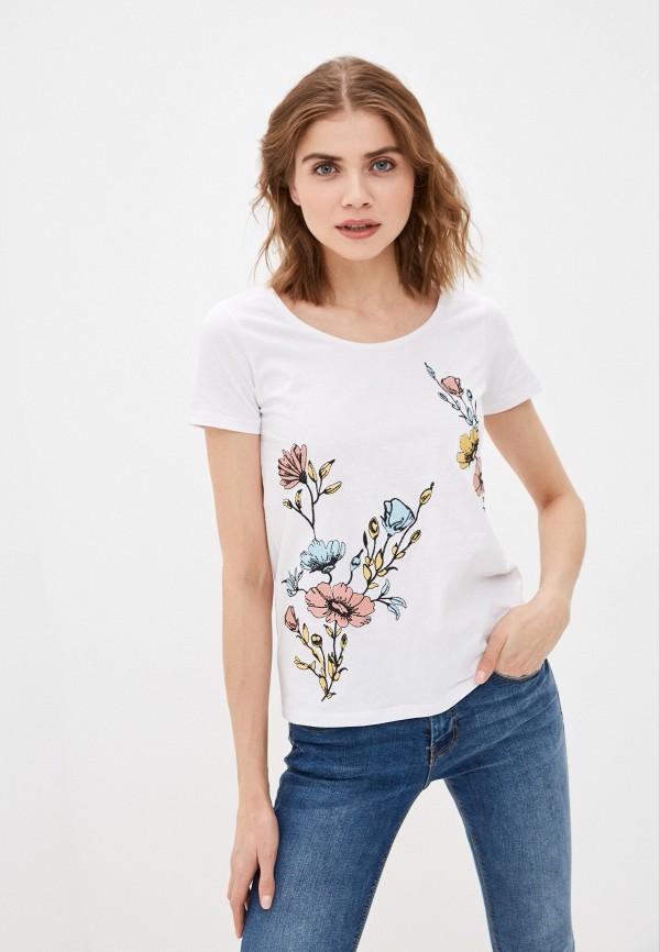 женская футболка bruebeck, белая