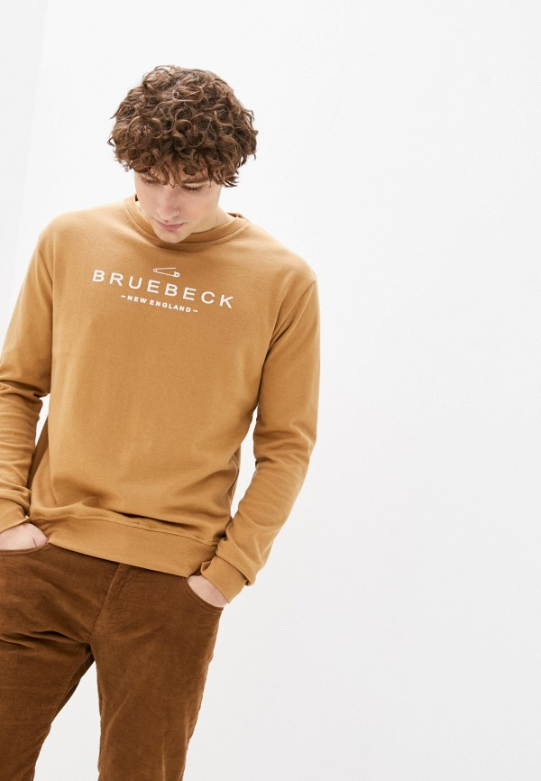 мужской свитшот bruebeck, бежевый
