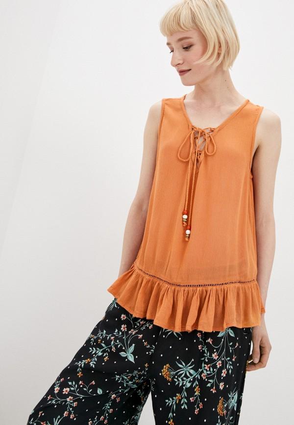 женский топ bruebeck, оранжевый