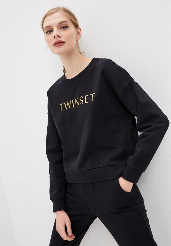 женский свитшот twinset milano, черный