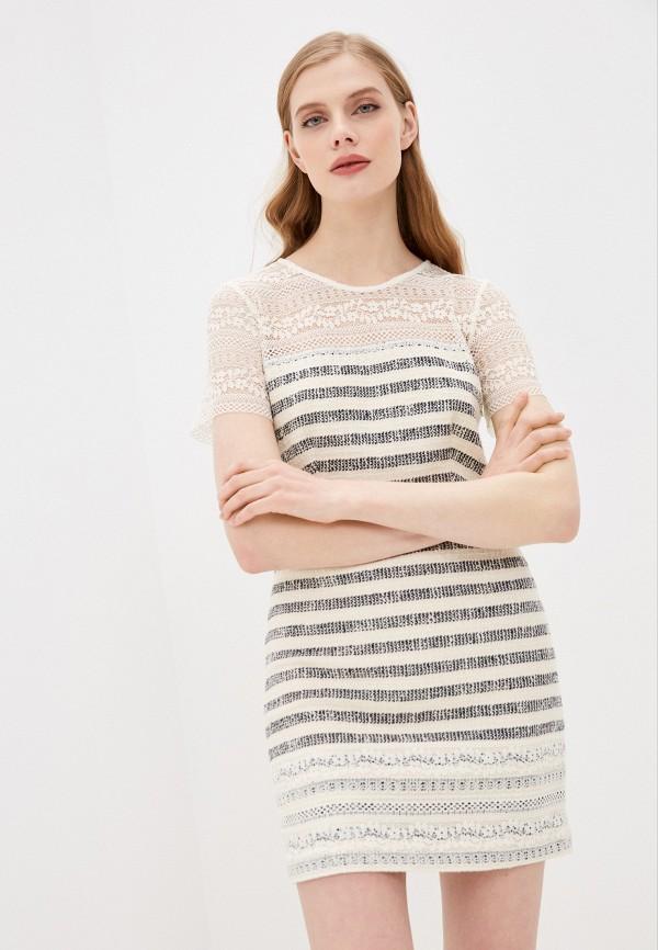 женское платье-футляр twinset milano, белое