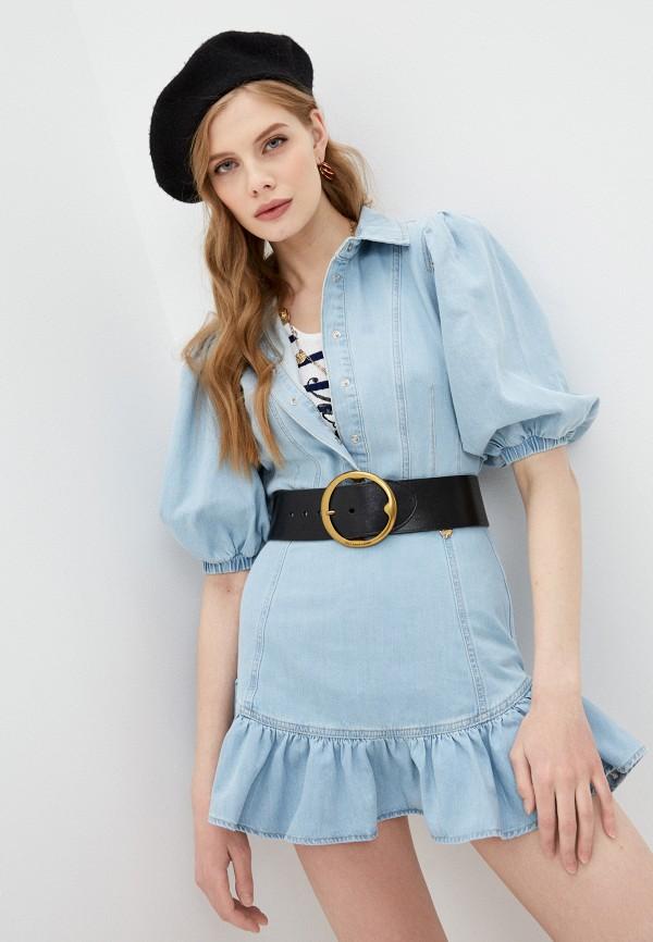 женская джинсовые рубашка twinset milano, голубая