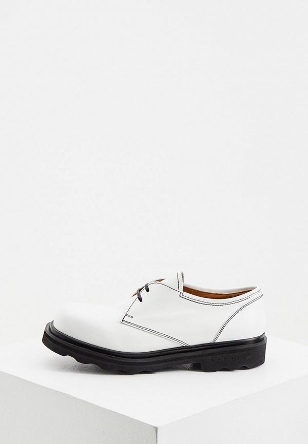 женские ботинки marni, белые