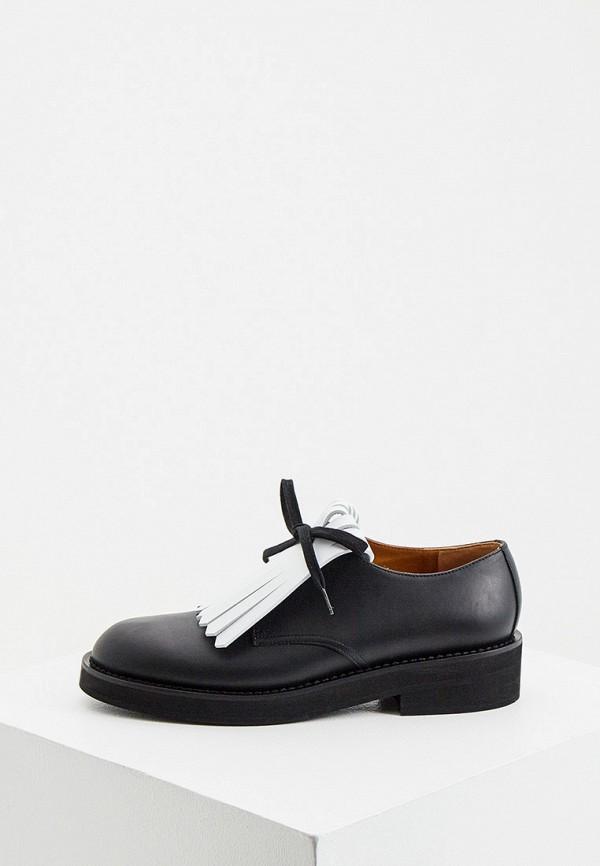 женские ботинки-оксфорды marni, черные