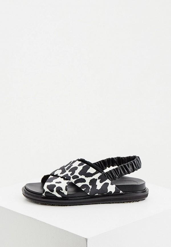 женские сандалии marni, черные