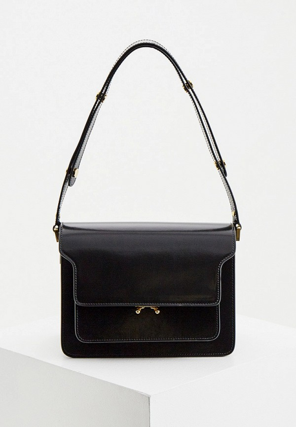 женская сумка с ручками marni, черная