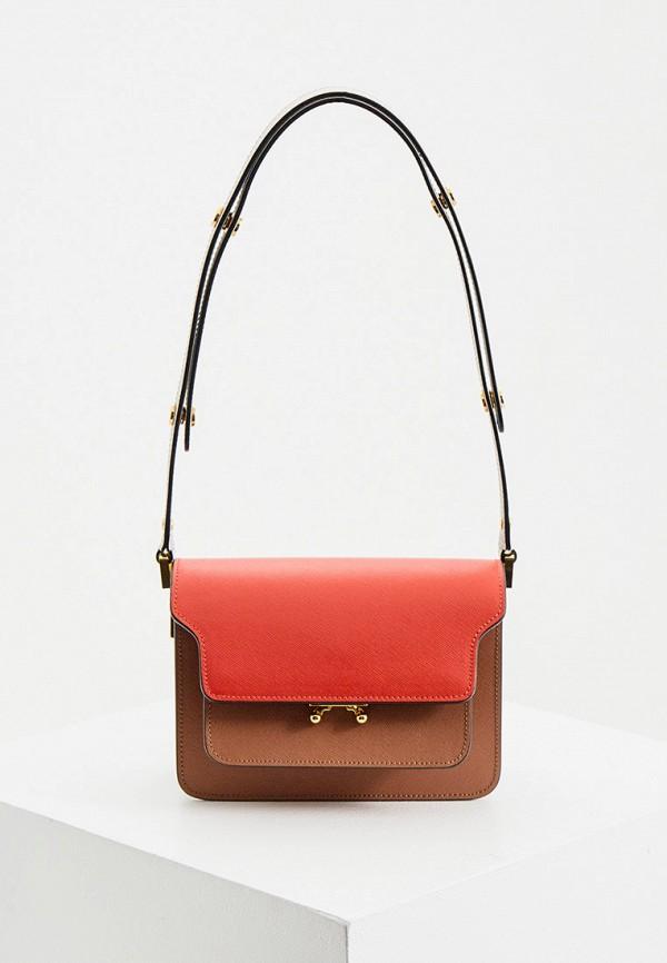 женская сумка с ручками marni, разноцветная