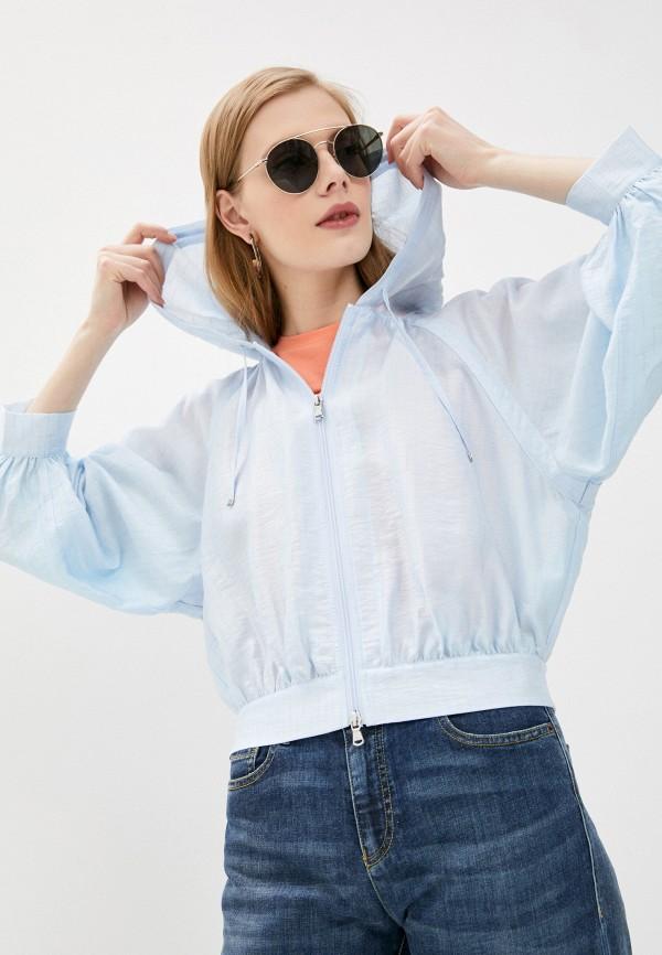 женская куртка emporio armani, голубая
