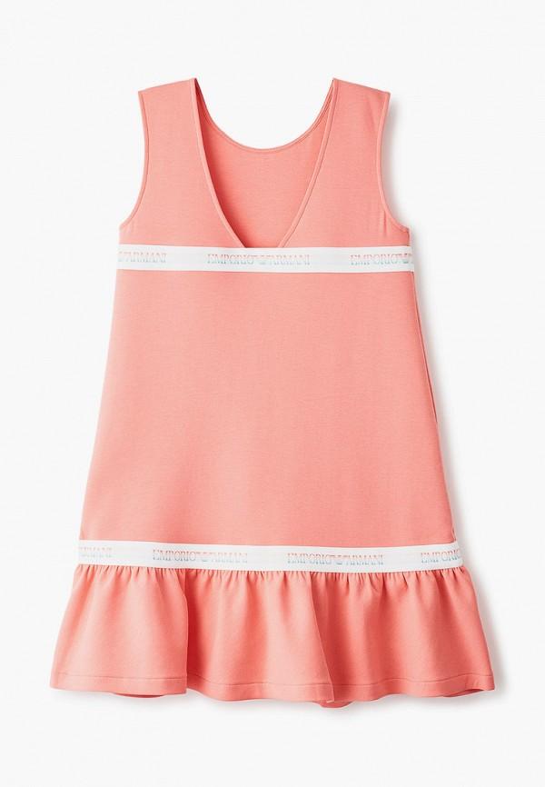 повседневные платье emporio armani для девочки, розовое