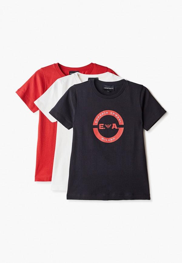 футболка с коротким рукавом emporio armani для мальчика, разноцветная