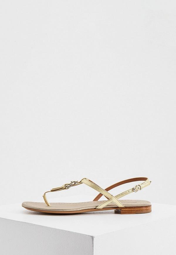 женские сандалии emporio armani, золотые