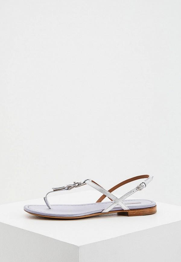 женские сандалии emporio armani, серебряные