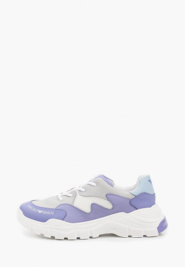 кроссовки emporio armani для девочки, фиолетовые