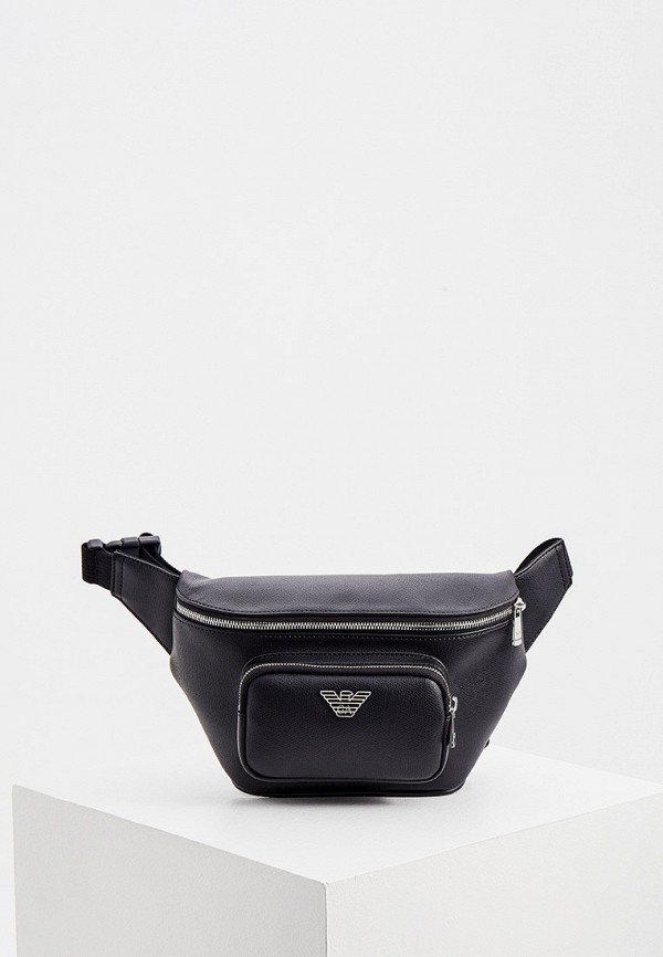 мужская поясные сумка emporio armani, черная