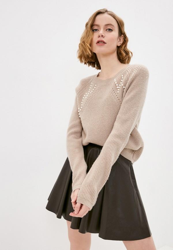 женский джемпер lusio, коричневый