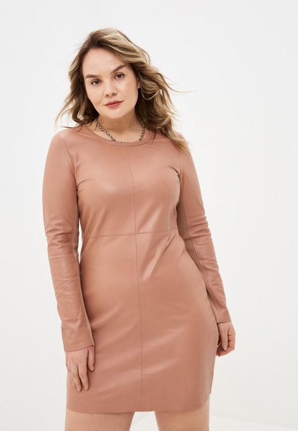женское платье lusio, коричневое