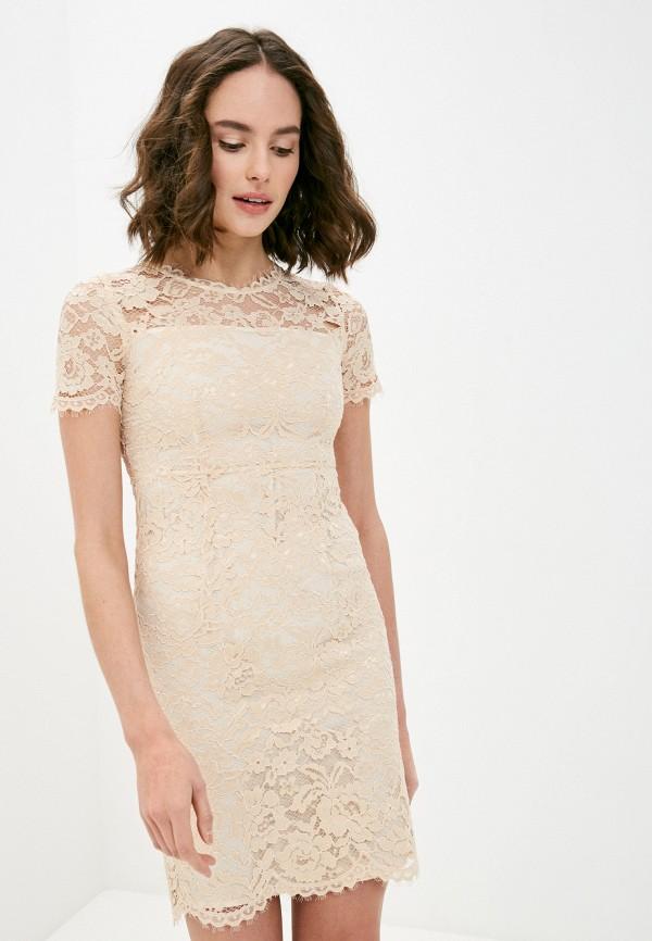 женское вечерние платье lusio, бежевое