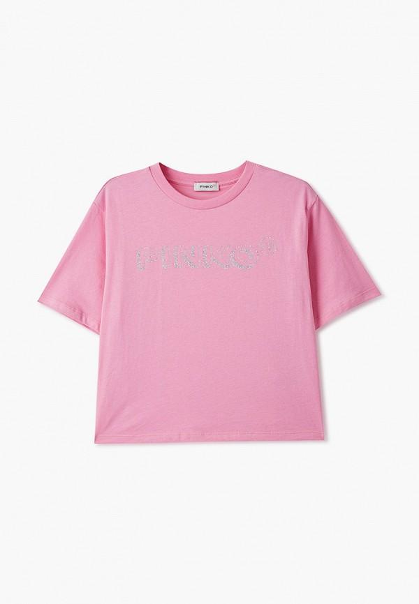 футболка с коротким рукавом pinko up для девочки, розовая