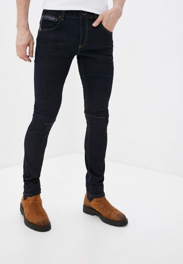 мужские зауженные джинсы rnt23, синие