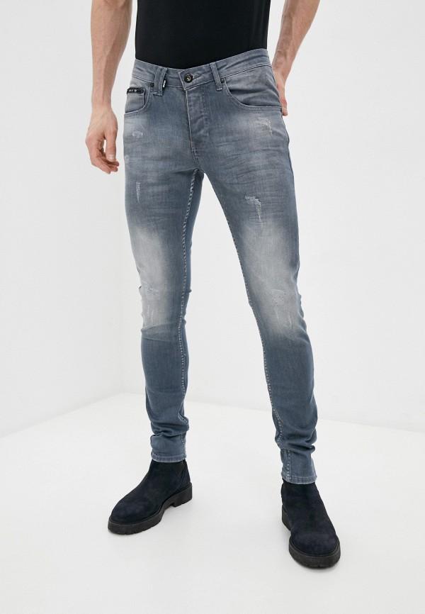 мужские зауженные джинсы rnt23, серые