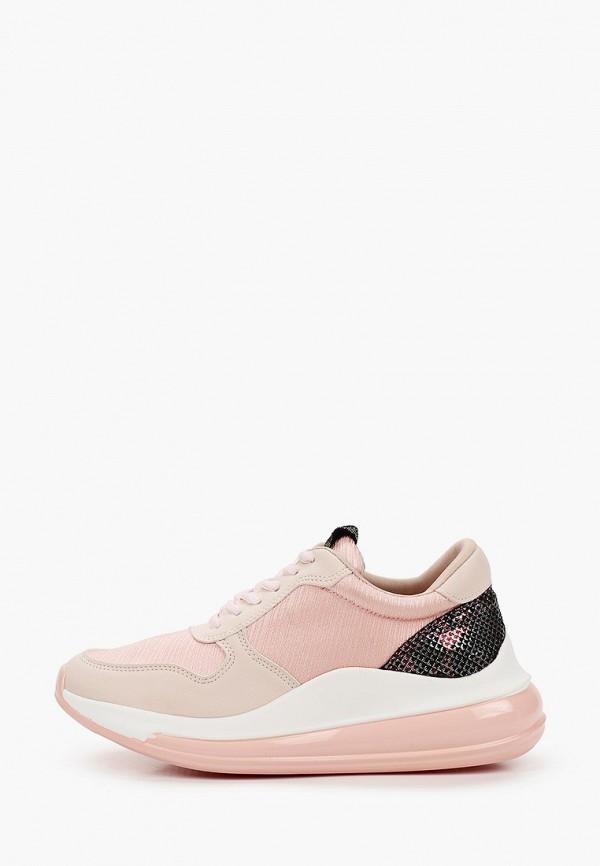 женские низкие кроссовки just couture, розовые