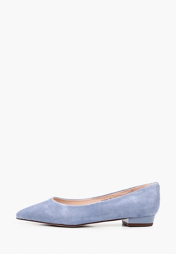 женские туфли с закрытым носом just couture, синие