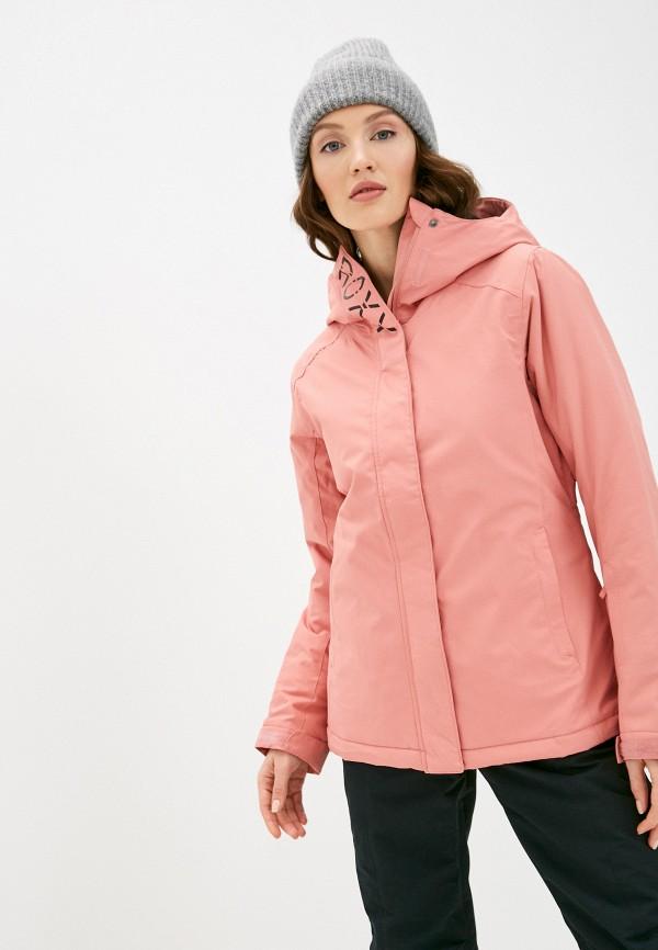 женская горнолыжные куртка roxy, розовая