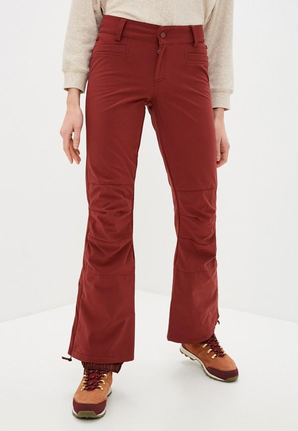 женские сноубордические брюки roxy, бордовые