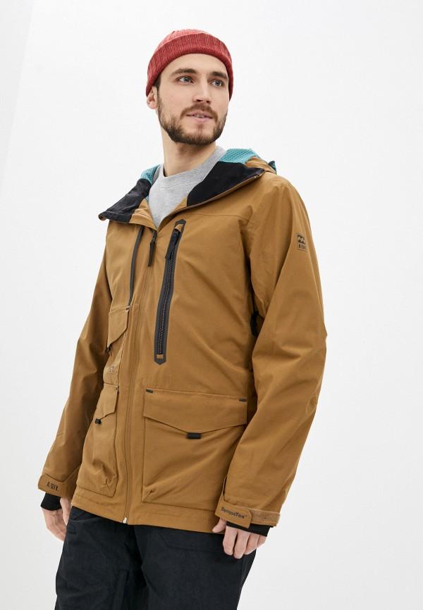 мужская куртка billabong, коричневая