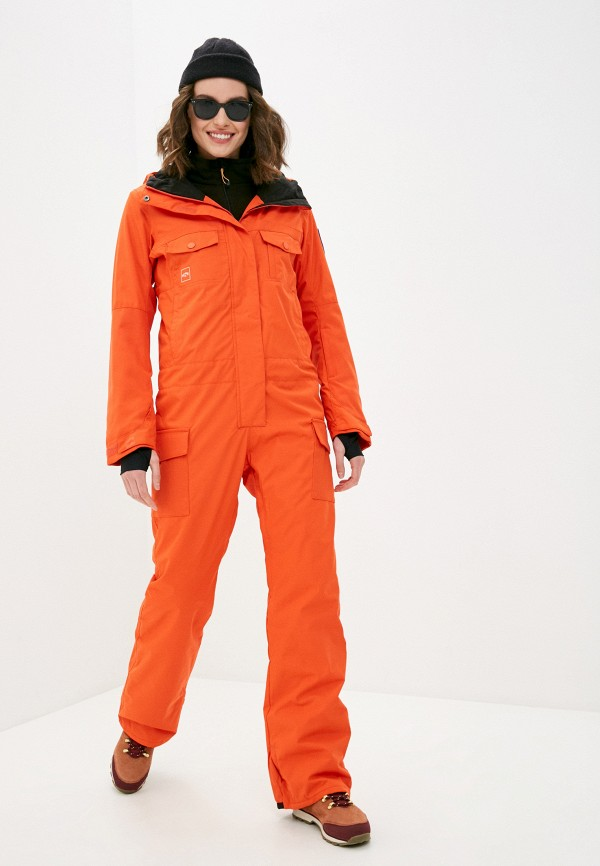 женский спортивные комбинезон billabong, оранжевый