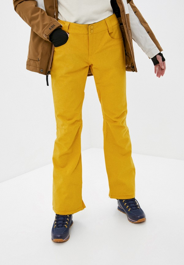 женские брюки billabong, желтые