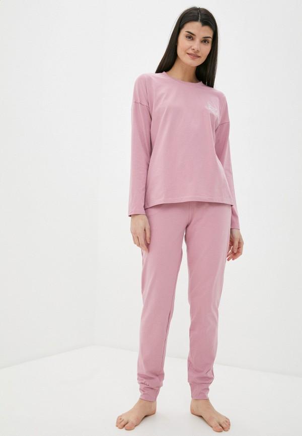 женская пижама winzor, розовая