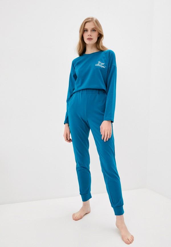 женская пижама winzor, бирюзовая