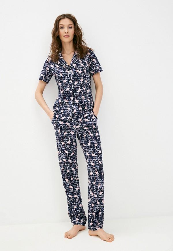 женская пижама rene santi, синяя