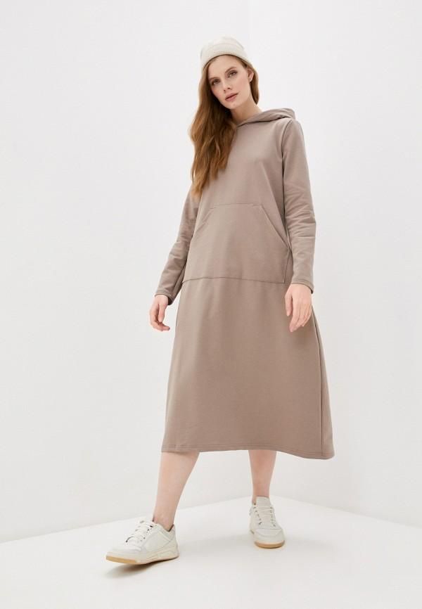 женское платье-толстовки rene santi, бежевое