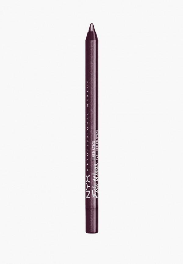женский карандаш для глаз nyx professional makeup, фиолетовый