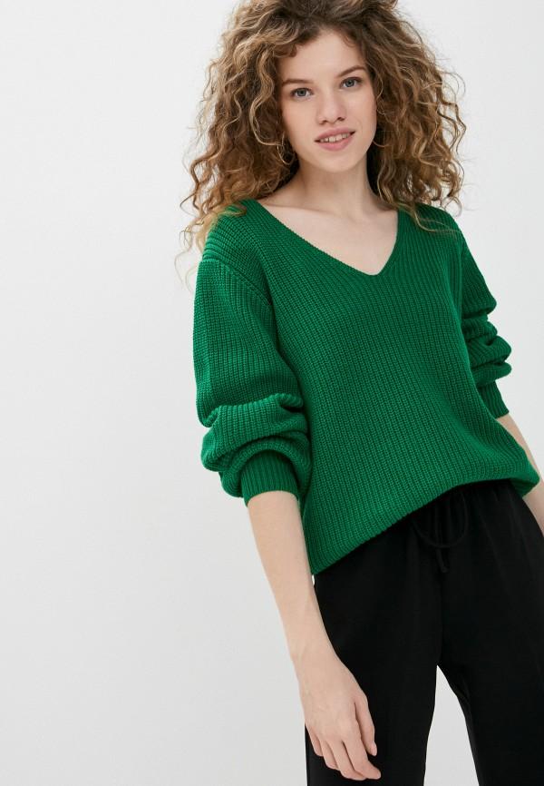 женский пуловер ichi, зеленый