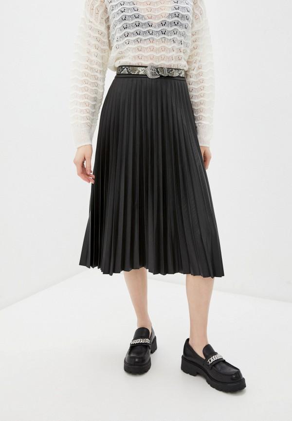 женская юбка ichi, черная